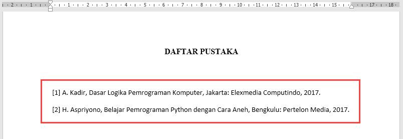 Membuat Kutipan Dan Daftar Pustaka Yang Otomatis Di Microsoft Word Tanpa Software Tambahan Hari Aspriyono