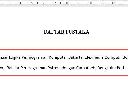 Membuat Kutipan dan Daftar Pustaka Yang Otomatis di Microsoft Word Tanpa Software Tambahan
