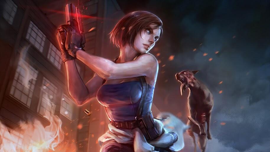 Jill Valentine Resident Evil 3 Remake Zombie Dog 4k Wallpaper 5 1870