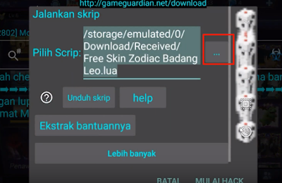 Skin Gratis Script Skin Hero Badang