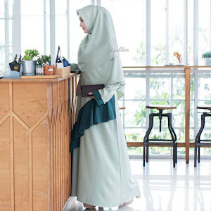 Gamis Dress Mutiara Slate Grey