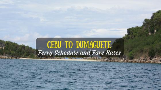 Cebu to Dumaguete ferry schedule