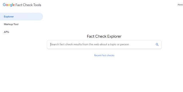 أدوات جوجل للتحقق من صحة الأخبار في المواقع الإلكترونية والشبكات الاجتماعية