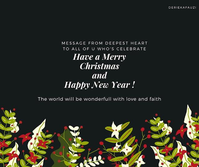 Selamat Natal 25 Des 2019 & Tahun Baru 1 Jan 2020