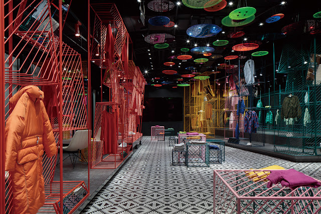 Green Pear Diaries, interiorismo, retail, JOOOS Fitting Room, Hangzhou, China