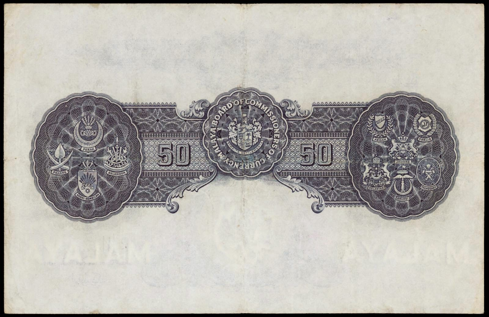 Malaya 50 Dollar bill note