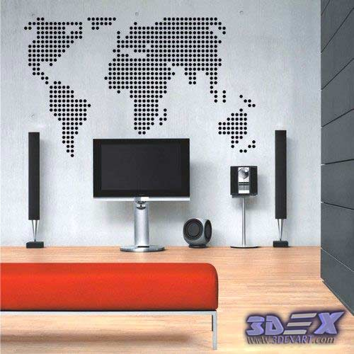 How to make world map decor and art for your interior design world map wall decor world map wall art world map wallpaper and murals gumiabroncs Choice Image