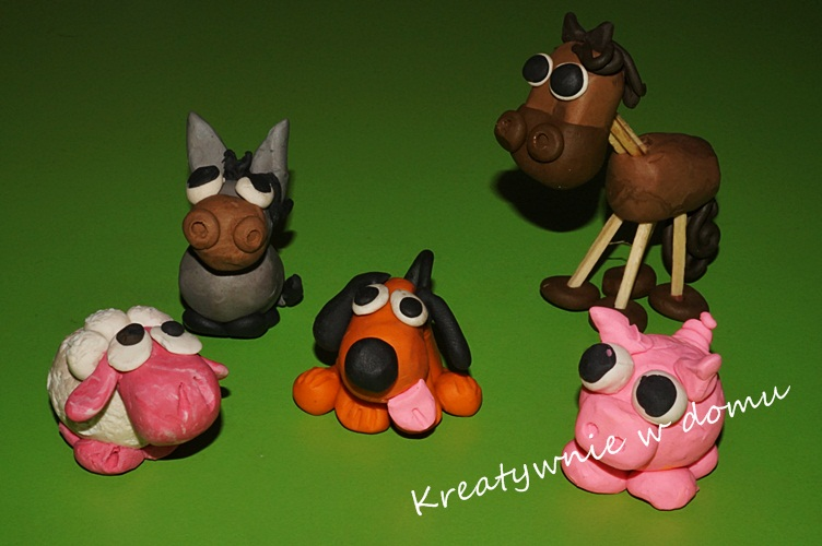 Plastelinowe love - zwierzaki z farmy | Kreatywnie w domu