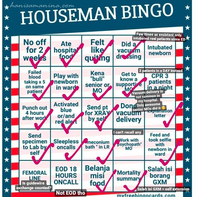 Houseman Bingo