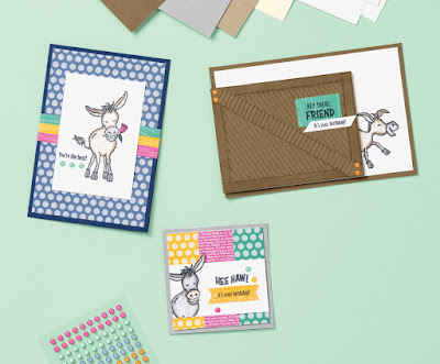 Stampin' Up! Darling Donkeys ~ Sale-a-Bration 2021 #stampinup #saleabration #sab2021