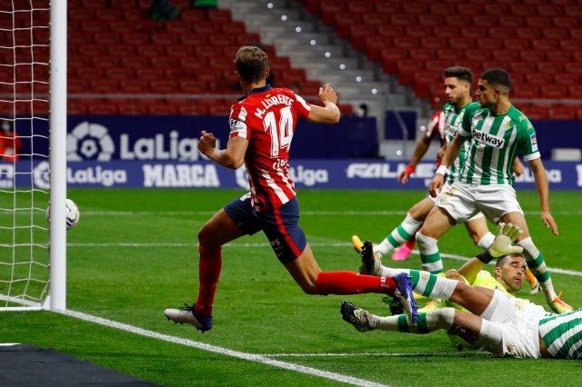 ملخص واهداف مباراة اتلتيكو مدريد وريال بيتيس (2-0) الدوري الاسباني