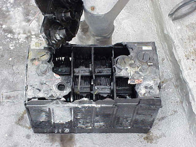 Exploded Car Battery