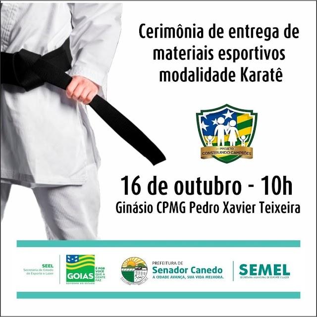 Senador Canedo é beneficiado pelo projeto Construindo Campeões do Governo Estadual