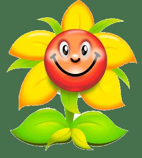 gambar bunga kartun png