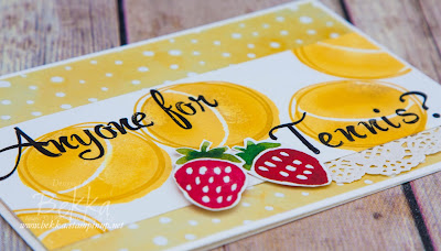 Anyone for Tennis Card Featuring the Suite of the Week - Fruit Stand from Stampin' Up! UK