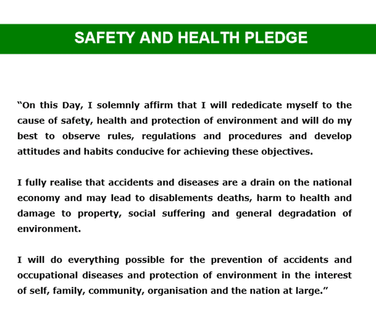 Safety And Health Pledge