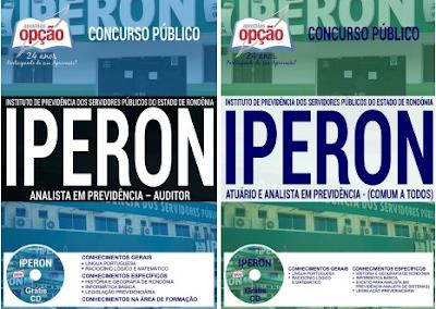 Apostila para concurso Iperon-RO Atuário 2017.
