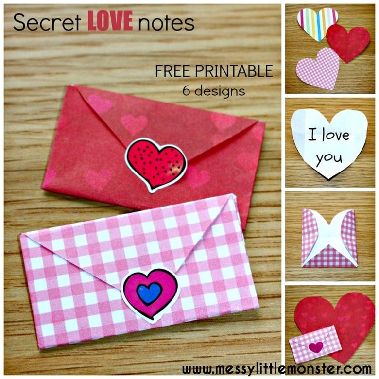 printable heart envelopes