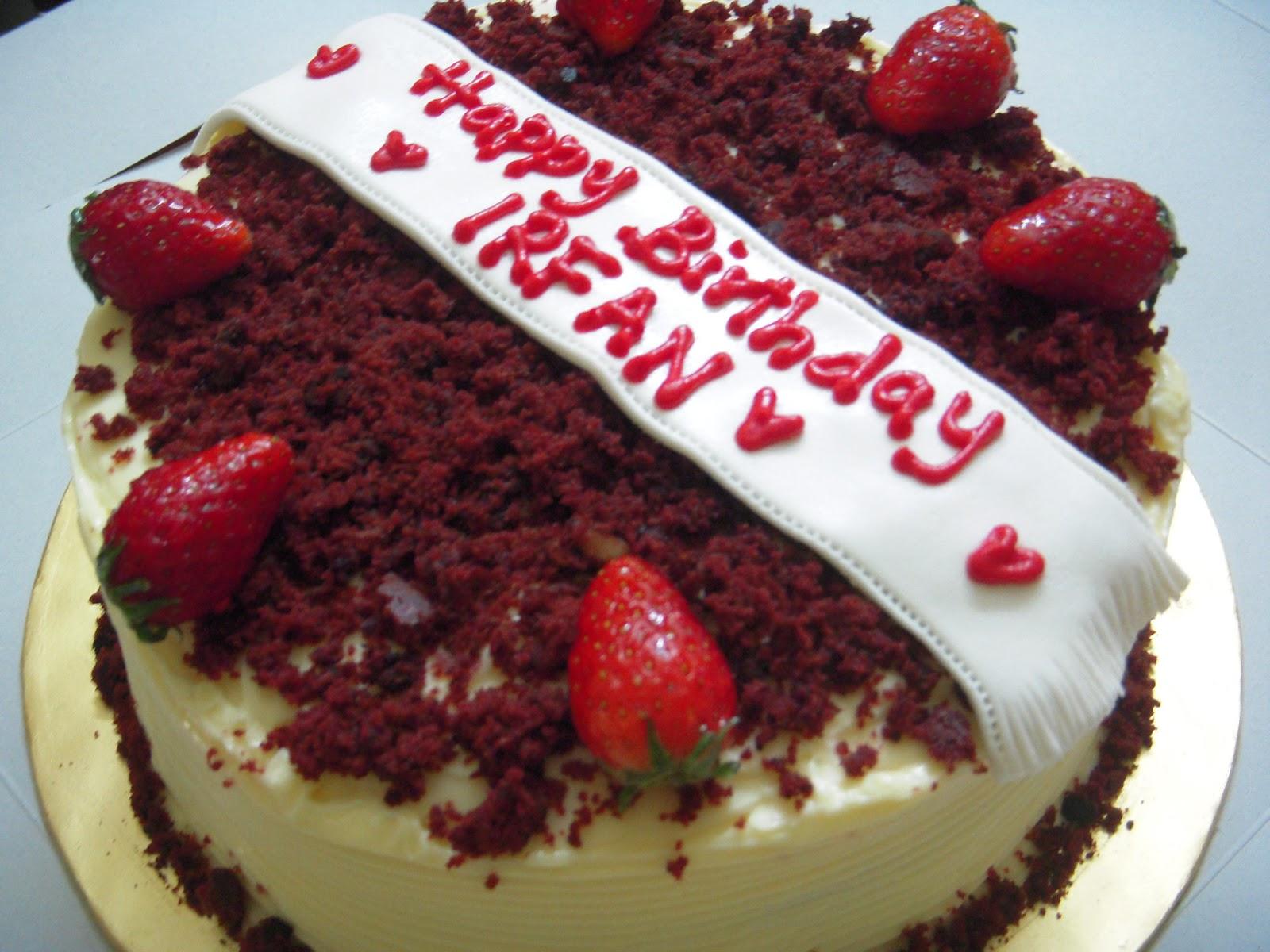 3n Cakes Red Velvet For Irfan Birthday