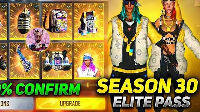 Hadiah Elite Pass FF Season 30