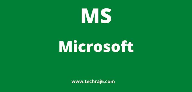 MS full form, What is the full form of MS