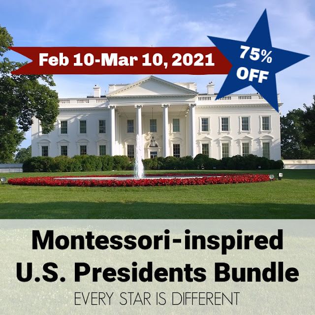 Montessori-inspired U.S. Presidents Bundle
