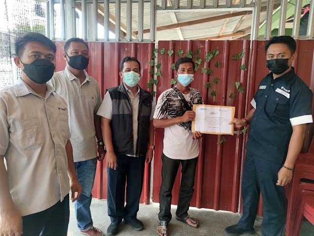 Giliran KUB Tanjung Buluh Kasap Terima Bantuan Alat Tangkap dari PT Timah