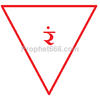 Representation of Bhadrakali Yantra with Ram- रं Beej Mantra