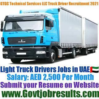 GTGC Technical Services LLC Light Truck Driver Recruitment 2021-22