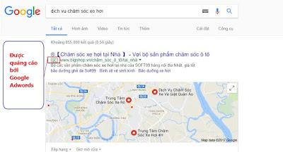 Tìm kiếm khách hàng trên Internet cho dịch vụ chăm sóc xe hơi