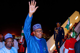 President Buhari returns back home after London Investment Summit