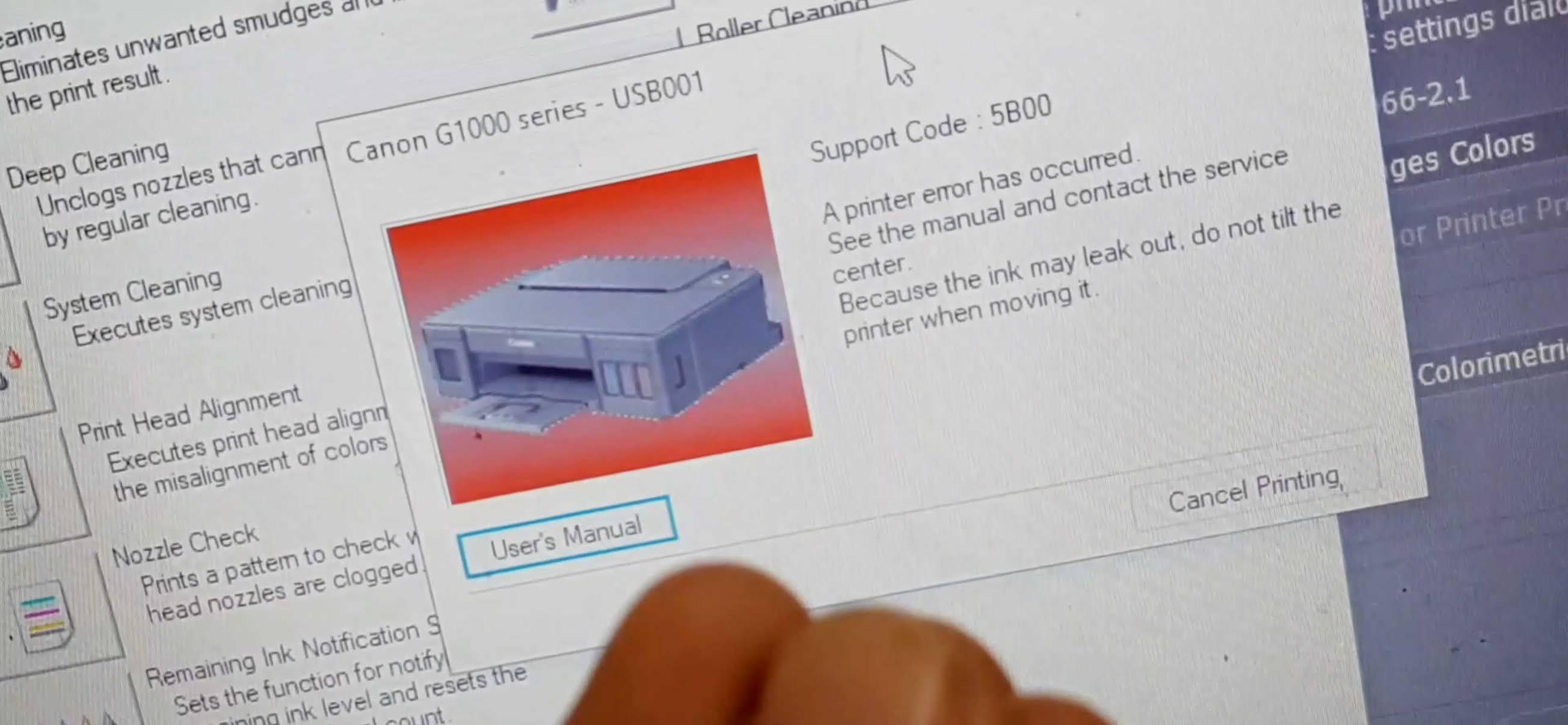 Cara Memperbaiki Printer G1000 G2000 Error 5b00 Tanpa Software Rahmancyber