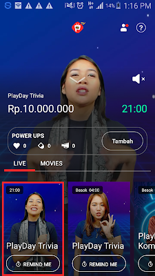 Saldo Gopay Gratis dari Aplikasi Playday