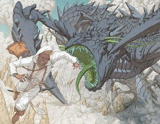 Comics - White Sand: Kenton lors de l'épreuve de la voie du Mastrell