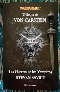 Portada del ómnibus de la Trilogía von Carsten: La guerra de los vampiros, de Steven Savile