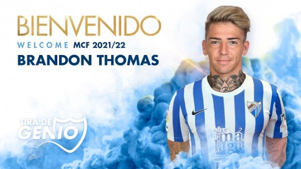 Oficial: Málaga, firma Brandon Thomas hasta 2022
