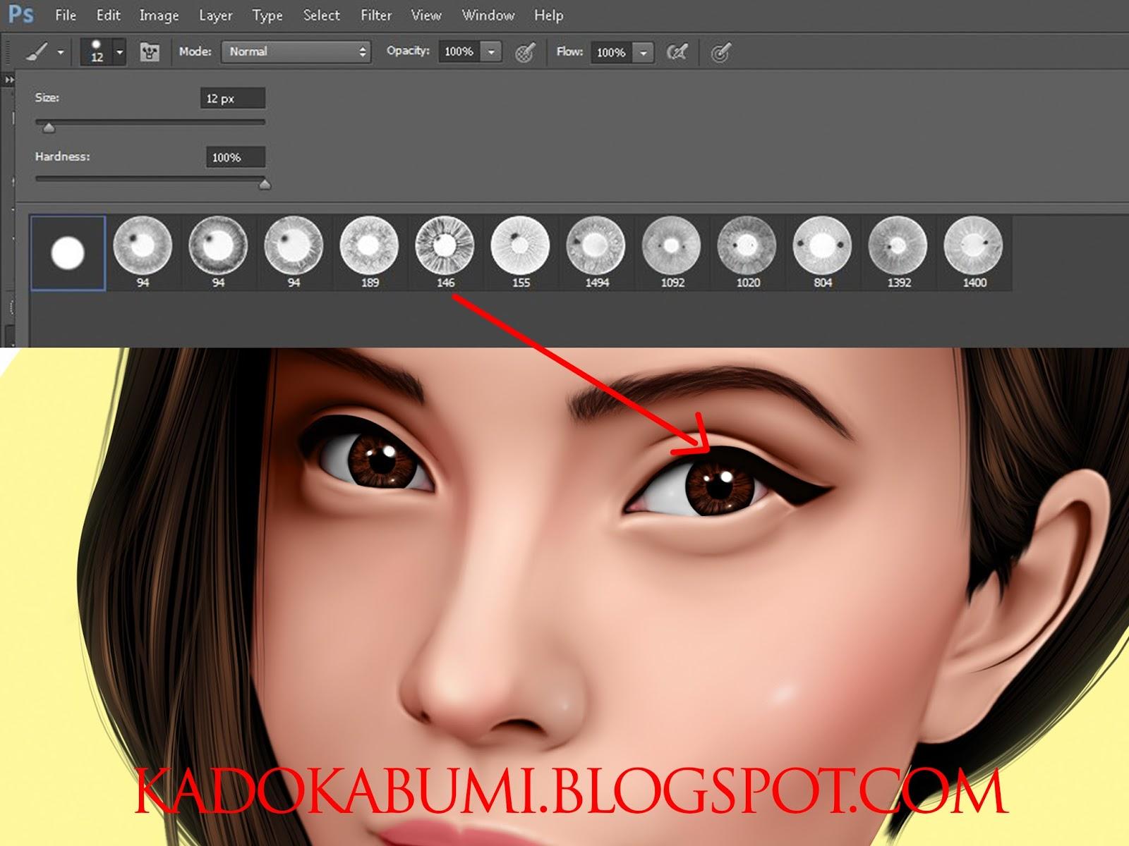 Download Brush Mata Alis Format ABR Untuk Smudge Painting