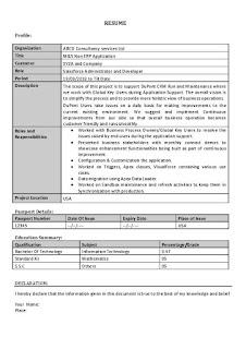 Salesforce Resume Format