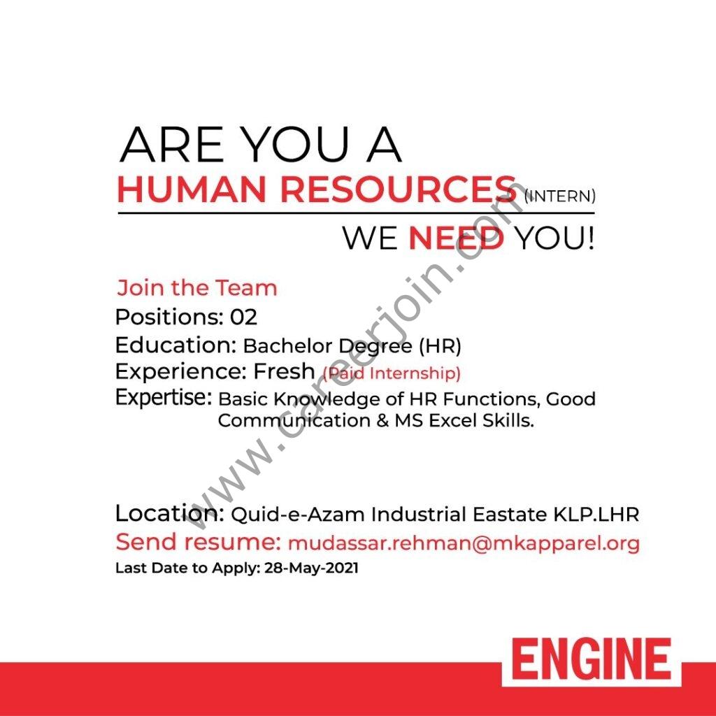 Engine Clothing Internship 2021 in Pakistan