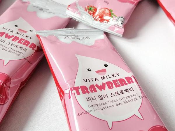 Review : Shinjumi Vita Milky Strawberry