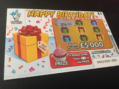 £1 £5,000 Happy Birthday Scratch Card