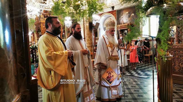 Αρχιερατική Θεία Λειτουργία από τον Μητροπολίτη Αργολίδας στον Τίμιο Πρόδρομο Άργους (βίντεο)