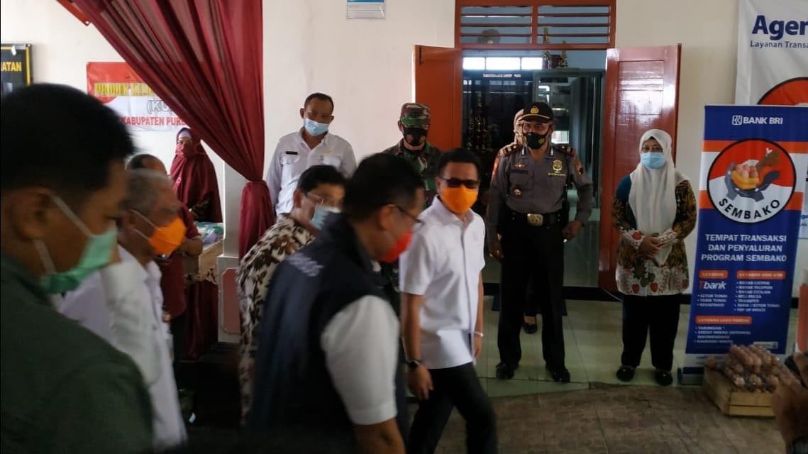 Polres Purbalingga Amankan Kunjungan Menteri Sosial Republik Indonesia