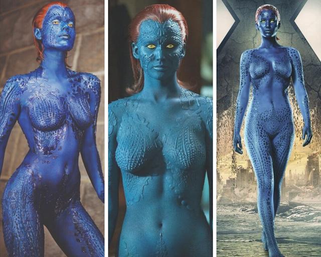 Maquiagem e Cabelo da Mística marvel x-men mystique