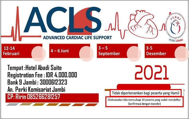 Pelatihan ACLS 2021 PERKI JAMBI