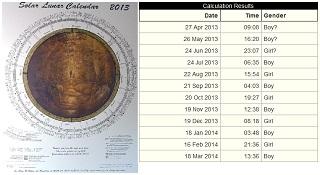 Image: The Solar Lunar Calendar 2013