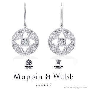 Kate Middleton Mappin and Webb Empress Drop Earrings