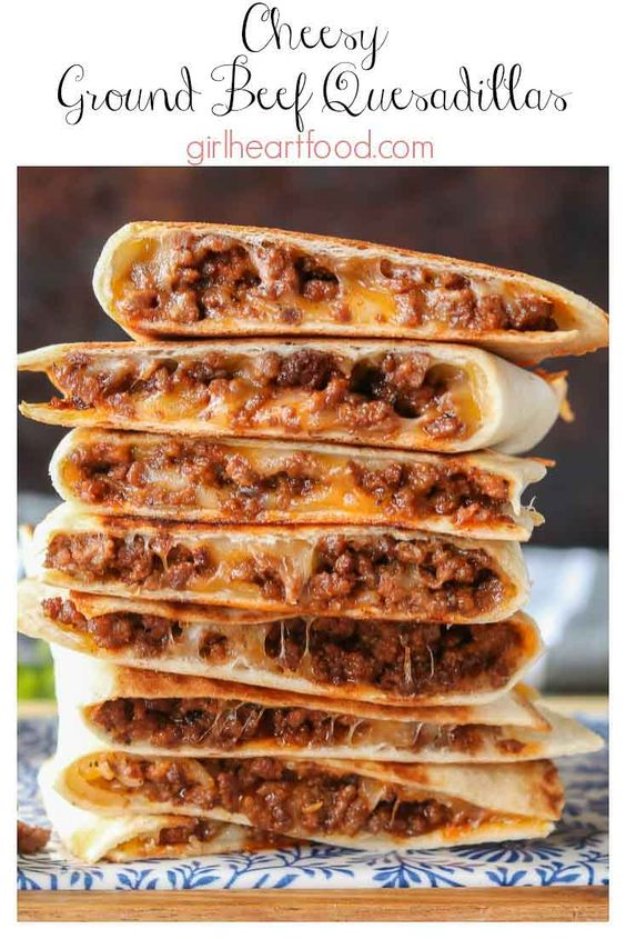 CHEESY GROUND BEEF QUESADILLAS #recipes #lunchrecipes #food #foodporn #healthy #yummy #instafood #foodie #delicious #dinner #breakfast #dessert #lunch #vegan #cake #eatclean #homemade #diet #healthyfood #cleaneating #foodstagram