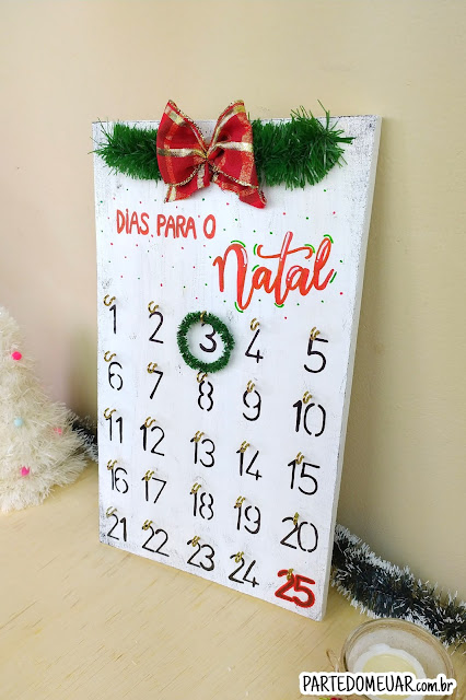 calendário do advento diy