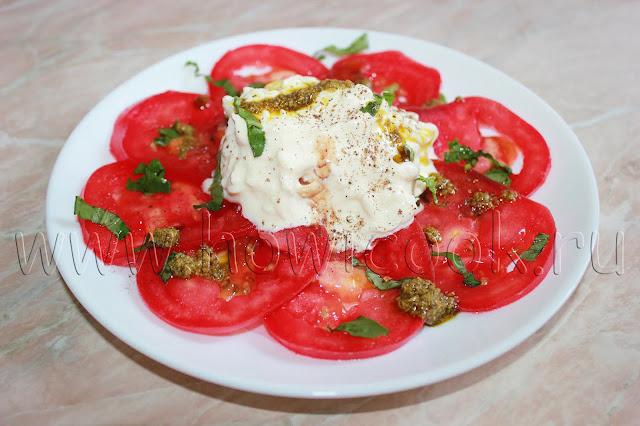 рецепт страчателлы с помидорами и базиликом с пошаговыми фото
